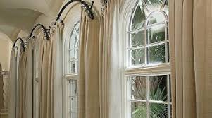 Arch Window Curtains Beautiful Curved Window Curtain Rods For Arch Dixiedogwear