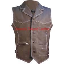 leather vest leather vest coat hunter style formal wear