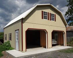 Two Story Barn Plans Wood Amish Built 2 Story Garage For Sale In Virginia And West Virginia