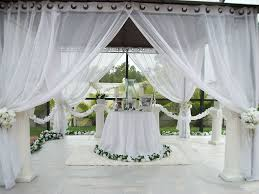 Outdoor Sheer Curtains For Patio Patio Pizazz Outdoor Gazebo White Wedding Drapes Price Includes