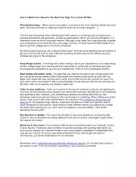 Best Paid Resume Builder One Page Resumes Examples Download Best Resume Ever One Page
