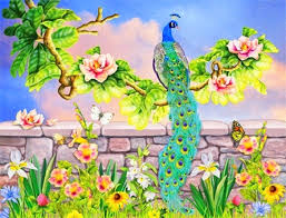 bird four butterflies magnolia lovely creativer dreams colors