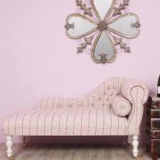 Pink Chaise Lounge Striped Heart Fabric Chaise Longue Made To Order Vintage Vibe Uk