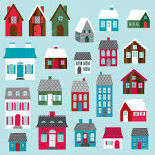 houses clip art u2014 stock vector scrapster 65477583