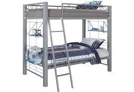Build A Bunk Bed With Trundle by Build A Bunk Gray 2 Pc Twin Twin Bunk Bed Bunk Loft Beds Metal