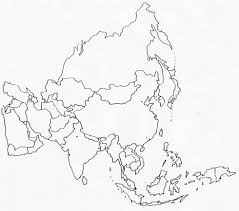 8 best images of printable blank map of asia printable blank map