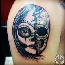 francis sugar skull black and grey skin bling black and grey