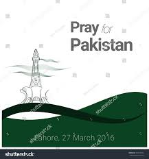 Flag Of Pakistan Image Pray Pakistan Attach Victims Pakistani Flag Stock Vector 397010734
