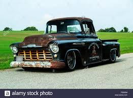 Classic Chevy Trucks 1956 - 1956 chevrolet custom rat rod pickup truck stock photo royalty