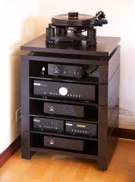 Audio Cabinets With Glass Doors Hifi Stand Stax Blok Cabinet Av Audio Four Five Six Shelf