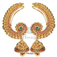earcuffs online traditional ear cuffs in gold finish kemp and green online hayagi