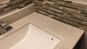 installing a glass mosaic tile backsplash in the bathroom youtube