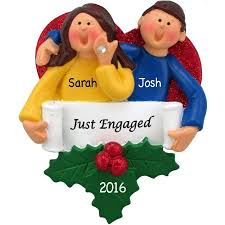personalized just engaged ornament walmart