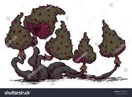 print psychedelic psilocybin mushrooms stock vector 666083050