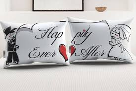 for couples stellamia happily after pillowcase set for couples