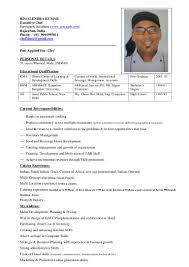 Example Of Chef Resume by Indian Chef Objective Military Contractor Resumes