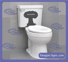 Zach Galifianakis Bidet Bathroom Humor Mushroom Cloud Toilet Bowl Decal Happens