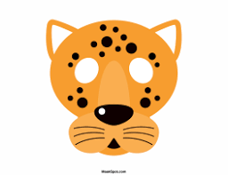 jaguar mask templates including a coloring page version of the