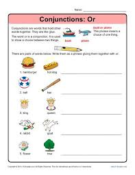 conjunctions or conjunction worksheets
