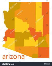 Arizona State Map by Arizona State Detailed Map Stock Illustration 75011806 Shutterstock