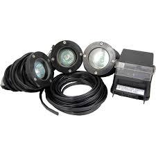 econo light landscape lighting pond force fiberglass led 3 light kit 5 4 w pondusa com