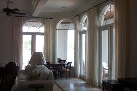 Palladium Windows Window Treatments Designs Decoration Semi Circle Blinds Brown Blackout Curtains Arch