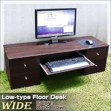 Pc On Desk Or Floor Wich Rakuten Global Market Low Type Floor Desk Particle Board