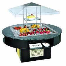 round table salad bar refrigerated round table salad bar restaurant equipment machinery