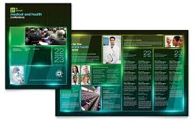 conference brochure templates medical conference brochure template