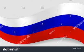 Eussian Flag Abstract Vector Wavy Russian Flag Background Stock Vector