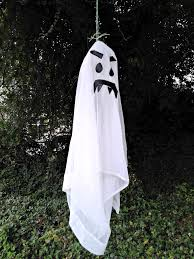 diy cheap recycled outdoor hanging ghost decorations u2013 maria u0027s