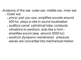 Anatomy And Physiology Ear Hearing Physiology Ppt Download