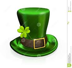 st patrick u0027s day hat with clover stock images image 34602694