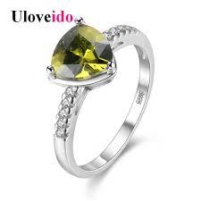 korean wedding rings online shop uloveido silver color ring korean wedding rings blue