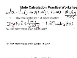 mole calculation worksheet part 1 youtube
