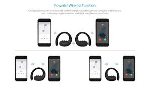 wireless stereo sports in ear headphone dodocool com