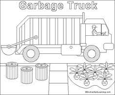 put all garbage inside truck coloring pages miles 2nd bday