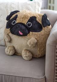plush one pillow in pug get cozy with this cuddly pug pillow by