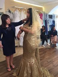 gold wedding gown his is don t tell the viewers react in horror as