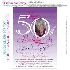 birthday invitation template templates for 50th birthday