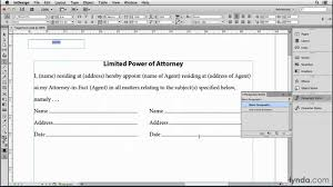 T 8 Limited Power Of Attorney by Make A Fill In The Blank Label For Contracts And Forms Indesign