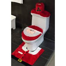 santa toilet seat cover and rug set review christmas decorations