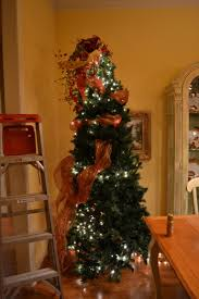 Ideas Decorating Christmas Tree - decorating christmas trees with ribbon vertically