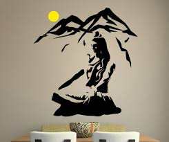 religious wall decal etsy lord shiva wall sticker vinyl hindu god decal meditation stencil art gift