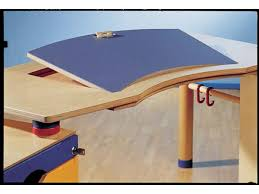bureau haba haba bureau kontiki plateau inclinable en couleur avec étagère à