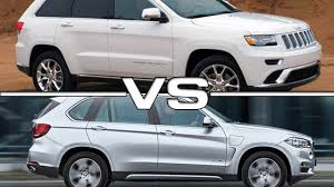 bmw jeep 2015 2016 jeep grand cherokee vs 2015 bmw x5 youtube