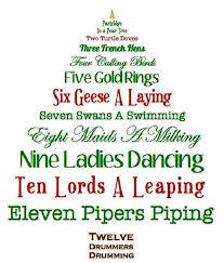christmas tree shaped 12 days of christmas lyrics printable for