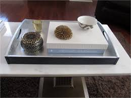 coffe table serving tray for ottoman glass tray table grey