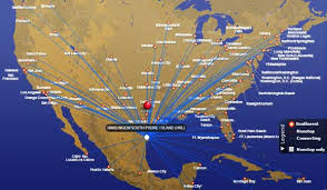 swa route map southwest airlines valley international airport