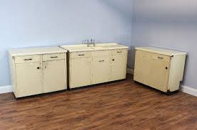 Vintage Kitchen Cabinets Base Units Metal Cream Leisure - Kitchen cabinets base units